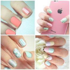 We ♥ colores pastel Nail Art Diy, Diy Nails, Beauty Nails, Hair Beauty, Hair Arrange, Festival Makeup, Nail Bar, Favim, Pretty Pastel