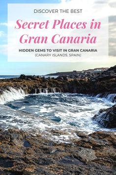 Hidden Places, Secret Places, Puerto Rico Gran Canaria, Yoga Hotel, Grand Canaria, Puerto Rico Trip, Secluded Beach, Tourist Spots, Destin Beach