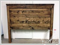 Ana white headboard planked headboard do it yourself home projects from ana white king headboard plans . Diy Pallet Projects, Furniture Projects, Home Projects, Diy Furniture, Bedroom Furniture, White Headboard, Rustic Headboard Diy, Reclaimed Wood Headboard, Queen Size Headboard