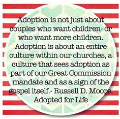 More churches need to financially support their members who are adopting. God calls many to adopt but the financial struggles are beyond unreal! We have been called to adopt and cannot wait to meet him/her!