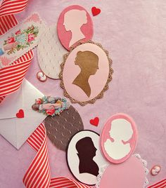 Didi @ Relief Society: Cameo Valentines to be attached with your February VT Message