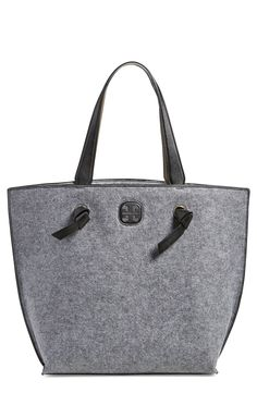 This chic Tory Burch felt tote is perfect for carrying the essentials.