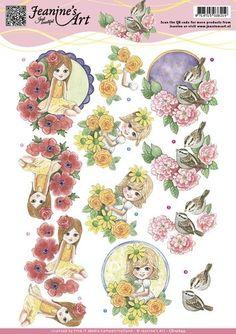 3D Knipvel - Jeanine`s Art - Spring Flowers<br />1-9-17 [€ 0.65]