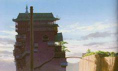 Living Lines Library: 千と千尋の神隠し / Spirited Away - Final Backgrounds Spirited Away Bathhouse, Studio Ghibli Background, Animation News, Animation Reference, Minecraft Architecture, Film Studio, Hayao Miyazaki, Planet Earth, Anime Manga