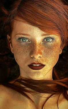 This image here is not rule of thirds because the picture is all centered and mo. This image here is not rule of thirds because the picture is all centered and mostly straight forward on the face and on. Beautiful Freckles, Beautiful Redhead, Beautiful Eyes, Beautiful People, Beautiful Women, Simply Beautiful, Amazing Eyes, Absolutely Stunning, The Face