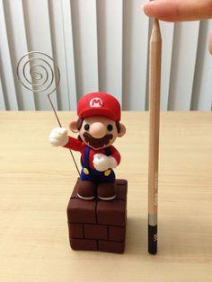 Clay Nintendo - Mario Bros Note Holder Figurine