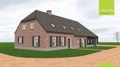 Traditionele langgevelboerderij te Hapert Mansions, Beautiful Homes, House Styles, Barn, Nice, Dream Homes, Villa, Home Decor, Ideas