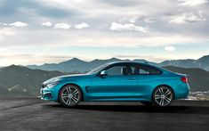 Download wallpapers BMW 4, 2018, 420d, M Sport, 4k, blue coupe, German cars, new blue M4, BMW