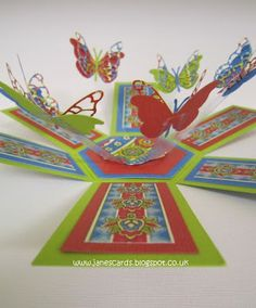 The Craft Barn: Random Week 3d Cards, Pop Up Cards, Paper Cards, Diy Paper, Stampin Up Cards, Book Making, Card Making, Exploding Box Card, Scrapbooking
