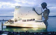 Floating theatre in Austria.