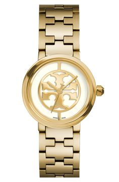 Putting this gold Tory Burch watch was on the wish list.