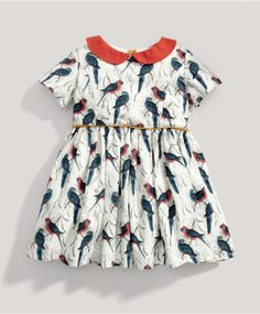 Girls Limited Edition All-over Printed Bird Dress