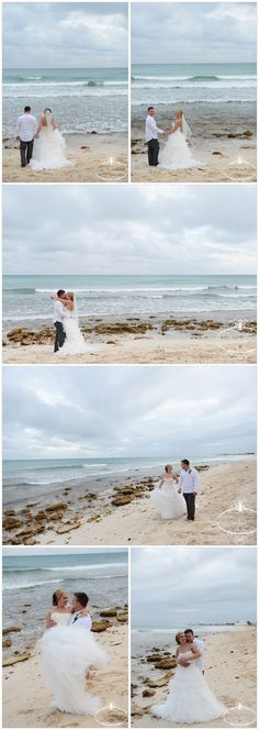 Tropical beach wedding - Now Jade Resort Puerto Morales Mexico