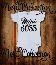 Baby Onesie Mini Boss Baby Boss I Am The Boss Hip Hop Music Rap Hipster Funny…