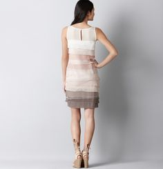 LOFT Cotton Jersey Tiered Shift Dress
