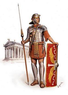 Heavily Armoured Roman Legionary of the Dacian Wars period, c. Ancient Rome, Ancient History, Roman Armor, Pax Romana, Greek Pantheon, Ancient Discoveries, Roman Legion, Roman Republic, Roman Era