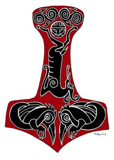 Thor Thor's Hammer Knotwork Viking Greeting Card with by FeralSky, $4.50