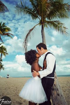 Beach Engagement Session for Lashawn and Danny from Orlando