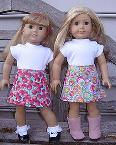 Free Wrap Skirt Pattern for American Girl