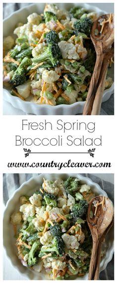 Fresh Spring Broccoli Salad - www.countrycleaver.com