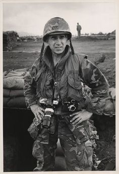 War photographer David Douglas Duncan. Khe Sanh, Vietnam, February 1968.  - Photographer unknown ~ Vietnam War