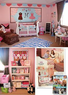 Samantha Harris' daughter's girlie girl nursery by Caden Lane