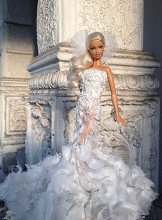Our timber barbie dolls family home collection has a choice of different styles and amount, our wood toy dolls buildings are delightfully detailed inside and outside. Barbie Bridal, Barbie Wedding Dress, Wedding Doll, Barbie Dress, Barbie Clothes, Wedding Dresses, Barbie Fashion Sketches, Fashion Dolls, Beautiful Barbie Dolls