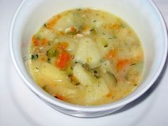 This recipe for Polish pickle soup or zupa ogorkowa is from the women of Gwizdaly village. An unusual recipe for Polish pickle soup or zupa ogórkowa is from the women of Gwizdaly village in the Mazowsze region of Poland. Beet Soup, Soup And Salad, Polish Dill Pickle Soup Recipe, Polish Soup, Soup Recipes, Cooking Recipes, Gumbo Recipes, Dill Recipes, Recipies