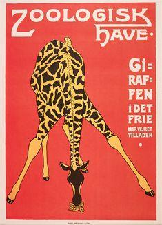 Framed Artwork, Framed Prints, Framed Canvas, Copenhagen Zoo, Zoo Giraffe, Plakat Design, Simple Line Drawings, Vintage Travel Posters, Vintage French Posters