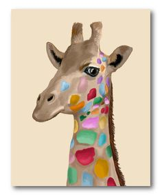 Love this Spotted Giraffe Wrapped Canvas on #zulily! #zulilyfinds