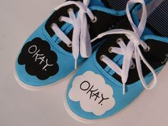 TFiOS Painted Shoes  Quotes  Fandom  John Green  by MyRainbowVeins, $65.00