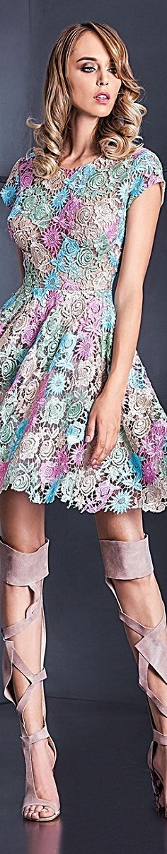 @roressclothes clothing ideas #women fashion lace dress CRISTALLINI Fall Winter 2016/17