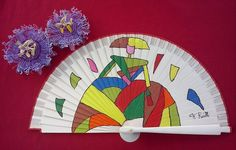 Hamacas Mexicanas & Artesanías OnLine - ABANICOS Fan Decoration, Hand Fan, Girls, Hand Fans, World, Vestidos, Painted Fan, Chinese Art, Hammocks