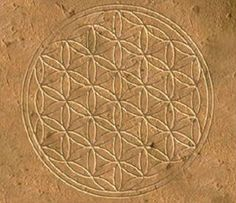 "The original flower of life (found on several pillars within ""the Osireion"" at Abydos in Egypt)"