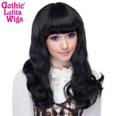 This black mixed wig features blunt bangs with a long straight style that finishes with a perfect curl under at the bottom while the mixed fiber colors create the most realistic look. ALSO see this collection for longer bangs: STRAIGHT by Cosplay Wigs USA Dark Maroon Hair, Faded Purple Hair, Hair Color Purple, Brown Blonde Hair, Short Relaxed Hairstyles, Retro Hairstyles, Down Hairstyles, Flapper Hairstyles, Medium Hair Cuts