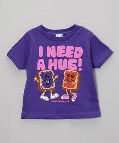 David   Goliath Purple  I Need a Hug  PB J Tee - Toddler   Kids 52d7771d0fcf1