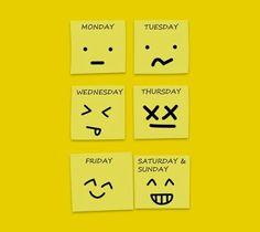 So reagiere ich auf die Wochentage