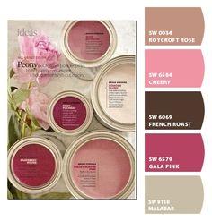 Pink Paint Colors, Bedroom Paint Colors, Paint Colors For Home, Room Colors, Paint Color Palettes, Paint Color Schemes, Colour Pallete, Magenta Walls, Wall Paint Colour Combination