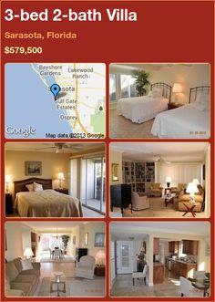 3-bed 2-bath Villa in Sarasota, Florida ►$579,500 #PropertyForSale #RealEstate #Florida http://florida-magic.com/properties/5921-villa-for-sale-in-sarasota-florida-with-3-bedroom-2-bathroom