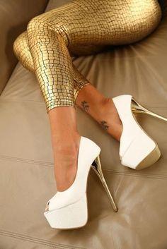 white stiletto high heels pumps women shoes fashion http://www.womans-heaven.com/white-stiletto-heels/
