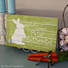 Peter Cottontail Slat Sign | The Wood Connection Blog