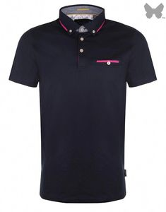 97272e247 Ted Baker Men's Bannyan Jersey Polo Shirt - Navy - Men's Polo Shirts /  T-Shirts - Men's Designer Shirts / Tops - Men