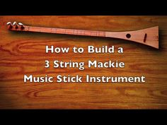 Here are the complete steps toward building a 3-stringed musical instrument, taught and inspired by the Andy Mackie Music Foundation. the instrument has a dulcimer's tuning, and sounds & plays beautifully. I teach a musical instrument building class to public middle school students in the adjacent high school wood-shop. Here, students have built dozens upon dozens of guitars, of various shapes and flavors. I shall make best attempts at teaching you my techniques, including what works well...
