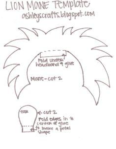 Lion ears headband template