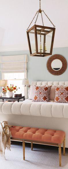Orange Accents in the Bedroom