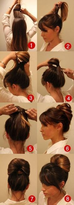DIY: Penteado fofo pra você fazer sozinha Hair makeup Unless you have been living under a rock I am sure you are well aware the hair scrunchie trend is back. Work Hairstyles, Wedge Hairstyles, Shag Hairstyles, Trendy Hairstyles, Hairstyles Videos, Everyday Hairstyles, Wedding Hairstyles, Ladies Hairstyles, Messy Bun Hairstyles