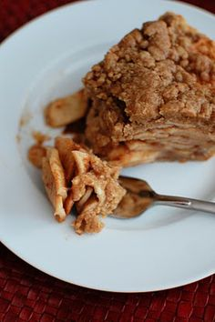 Apple Crisp Pie. The best of both worlds! Looks like I know what I'm making for Misfits Thanksgiving this year.