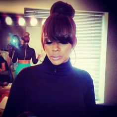 """This is her bun with a front and back shot. Loves it!! Evelyn Lozada Is Bold & Beautiful For """"Basketball Wives"""" Reunion (PHOTOS)"""