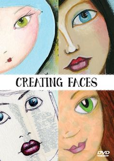 Learn How To Draw And Paint Mixed Media Faces                                                                                                                                                      More