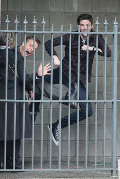 """Stars of the hit CW show """"The Flash"""" film a robbery scene in Vancouver, Canada on March 11, 2015"""